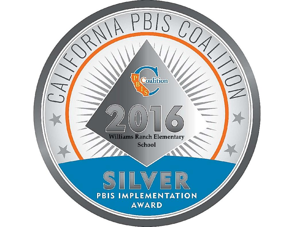 2016 California PBIS Coalition Silver implementation award